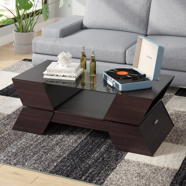 Wallington Abstract Coffee Table With Storage By Wade Logan