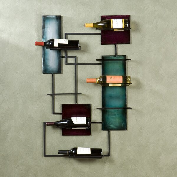 Sequeira 8 Bottle Wall Mounted Wine Rack by World Menagerie