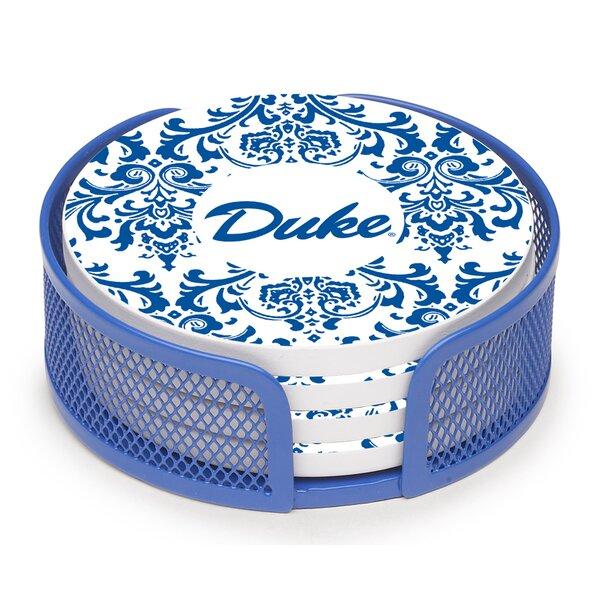 5 Piece Duke University Swirls Collegiate Coaster Gift Set by Thirstystone