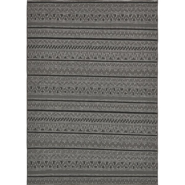 Lulu Pine Gray Indoor/Outdoor Area Rug by Bloomsbury Market