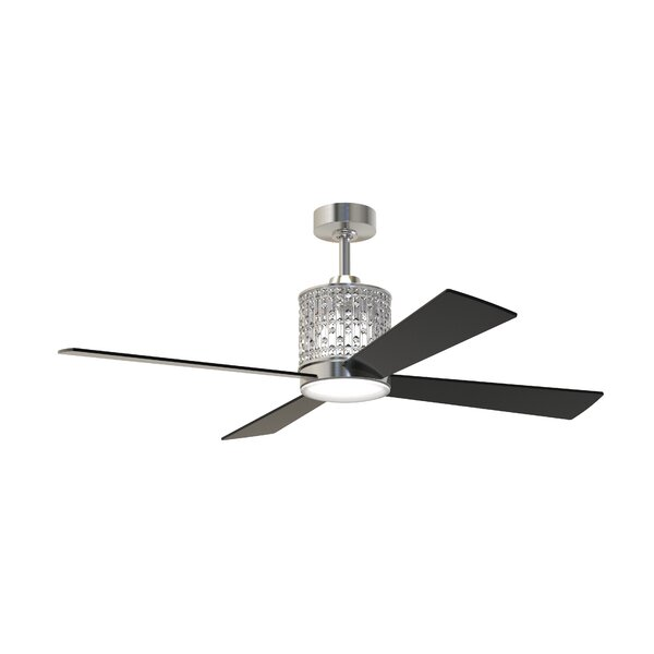 52 Bodella 4 Blade Ceiling Fan with Remote by Rosdorf Park
