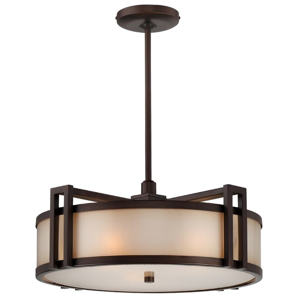 Underscore 3 - Light Shaded Drum Chandelier By Metropolitan By Minka