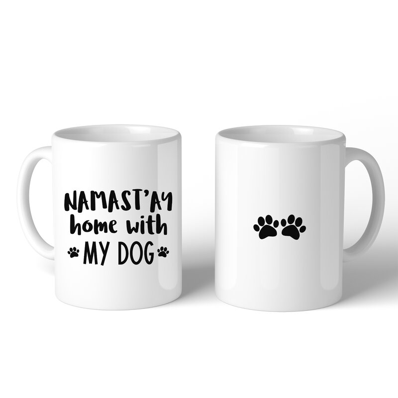 Pulteney Namastay Home with My Dog Coffee Mug