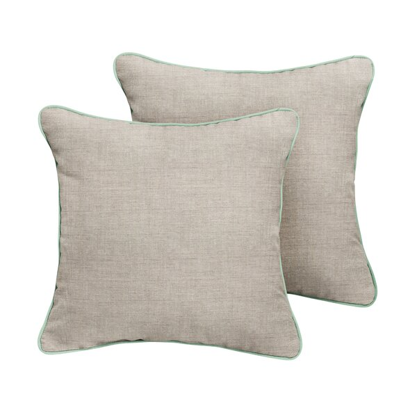 Chandler Sunbrella Cast Outdoor Throw Pillow (Set of 2) by Rosecliff Heights