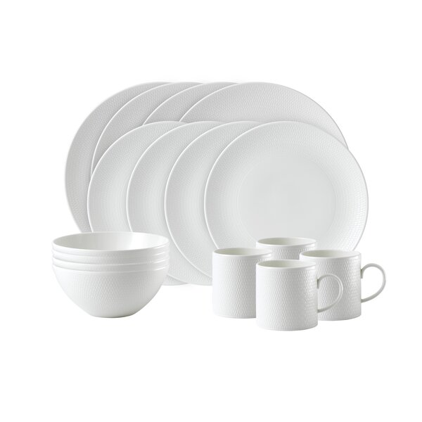 Gio 16 Piece Bone China Full Set, Service for 4 by Wedgwood