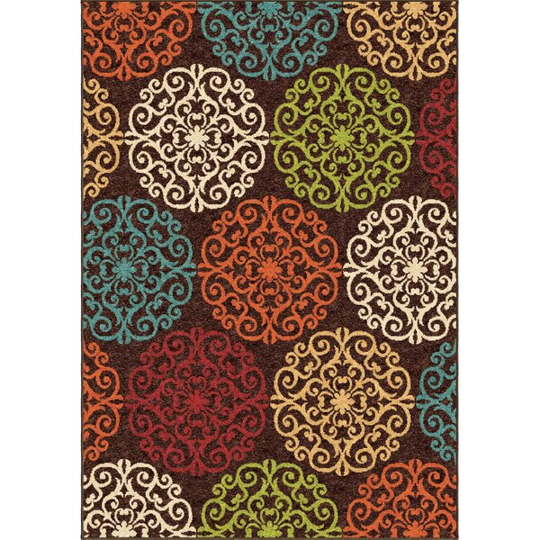 Guilford Brown Indoor/Outdoor Area Rug by Threadbind