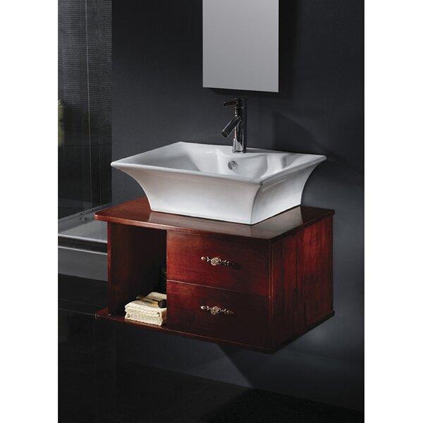 Forte Ceramic Rectangular Vessel Bathroom Sink with Overflow by Kingston Brass