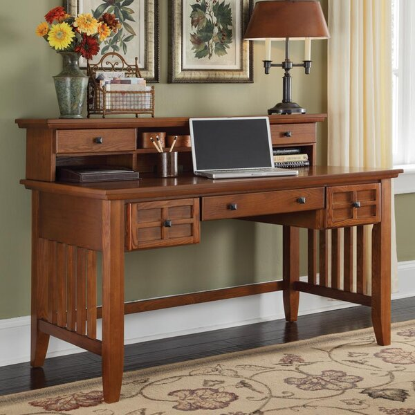 Ferryhill Writing Desk with Hutch by Three Posts