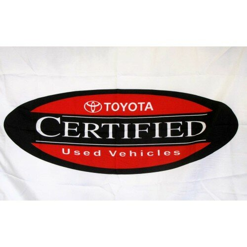 Toyota Certified Used Vehicles Polyester 2 x 3 ft. Flag by NeoPlex