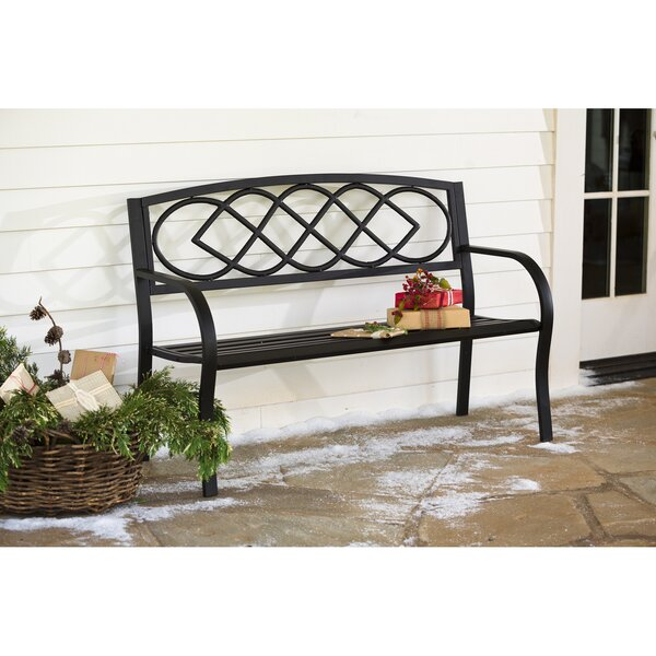 Boniface Celtic Knot Aluminum Garden Bench by Red Barrel Studio