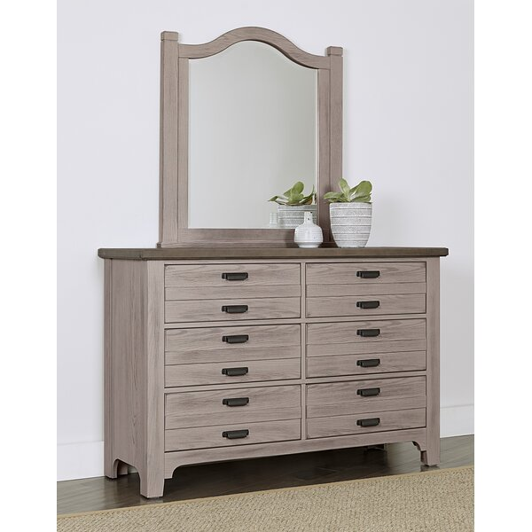 Erving 6 Drawer Double Dresser with Mirror by Darby Home Co