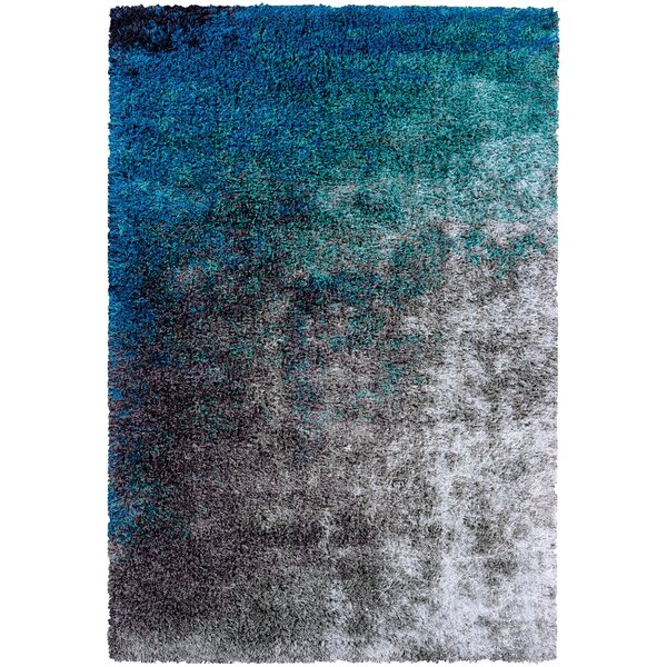 Pangburn Ocean Gray/Turquoise Area Rug by Wrought Studio