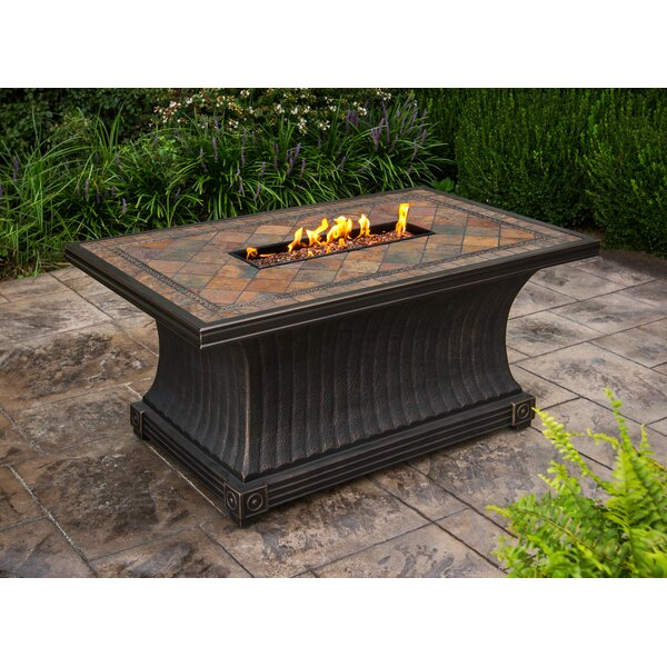 Aluminum Gas Fire Pit Table by TK Classics