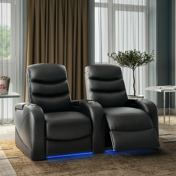 Stealth HR Series Curved Home Theater Recliner (Row Of 2) By Winston Porter
