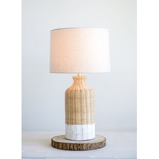 Rattan wicker table lamp wayfair choy wicker 27 table lamp aloadofball Choice Image