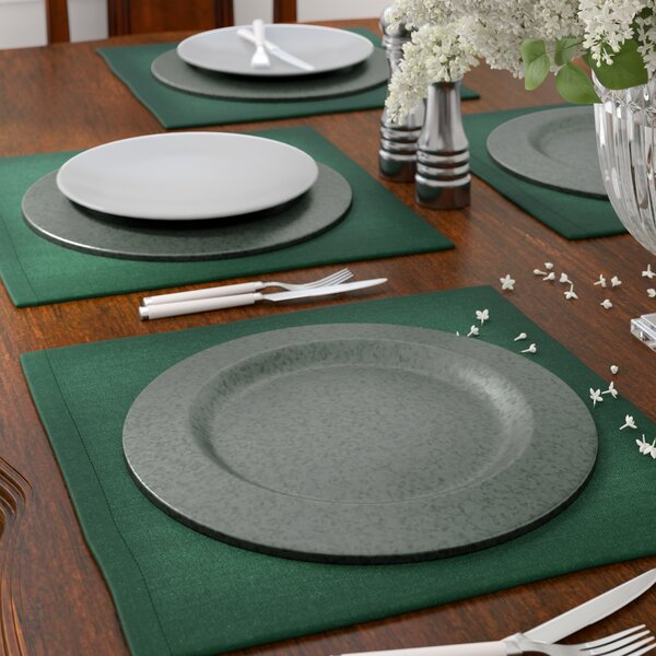 Josh Galvanized Charger Plate Set (Set of 4) by Astoria Grand