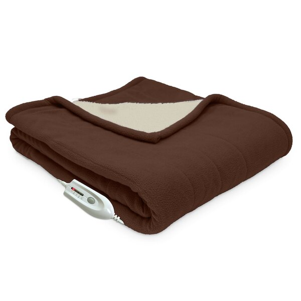 Sherpa Reversible Electric Heated Throw Blanket by Serta