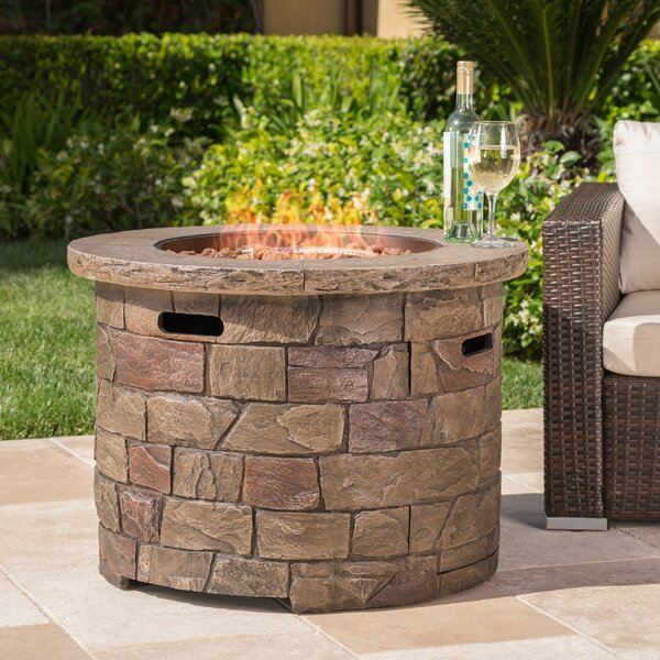 Leopold Stone Propane Fire Pit Table by 17 Stories