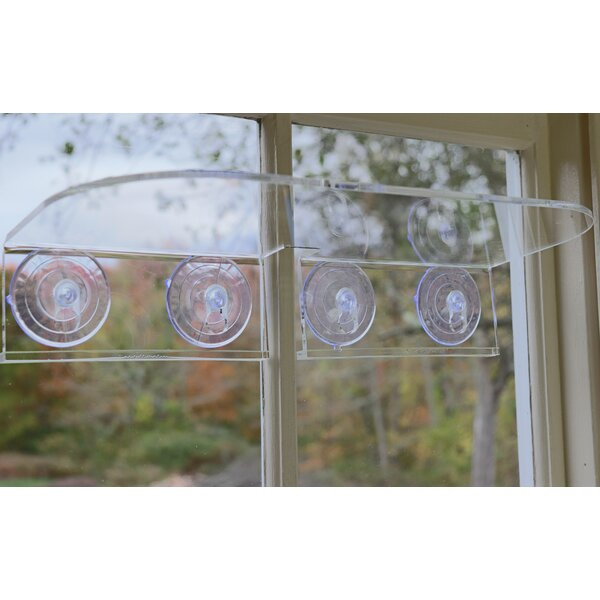 Double Veg Ledge Suction Cup Window Shelf by Window Garden