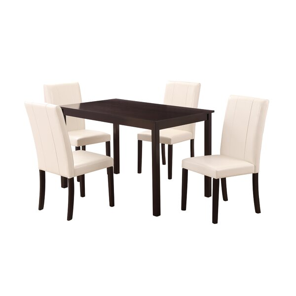 Lockmoor 5 Piece Solid Wood Dining Set by Latitude Run Latitude Run