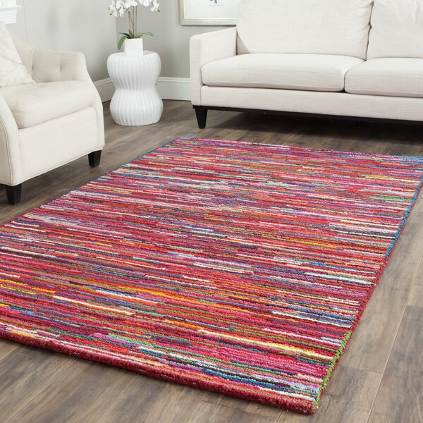 Sergio Pink Geometric Area Rug by World Menagerie