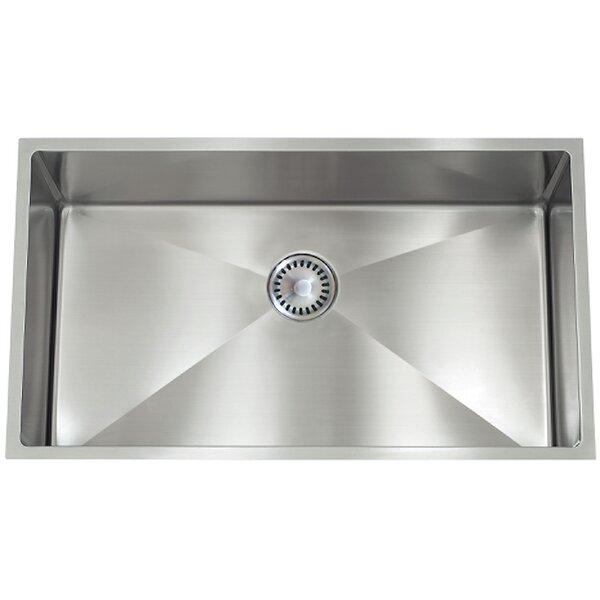 30 L x 10 W PermaClean Undermount Double Bowl Kitchen Sink by Lenova