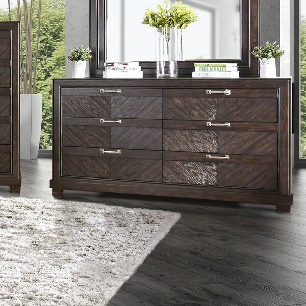 Gilstrap 6 Drawer Double Dresser by Wrought Studio
