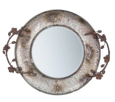 Uri Floral Accent Mirror by Bloomsbury Market