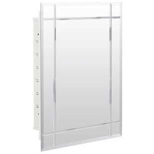 Purchase Keene 16.19 x 22.25 Recessed Frameless Medicine Cabinet with 2 Adjustable Shelves ByEbern Designs
