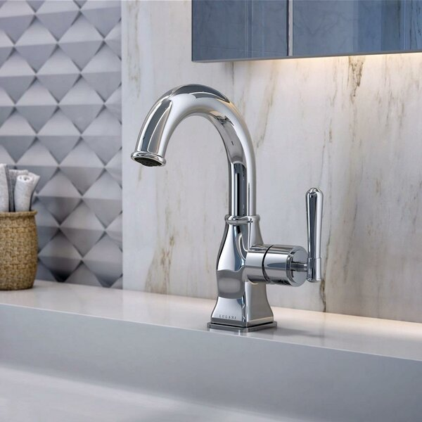 Aurora Single Hole Bathroom Faucet with Drain Assembly