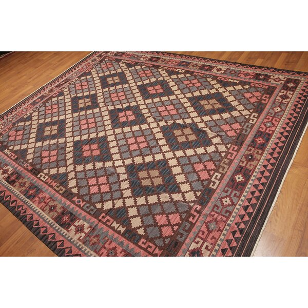 One-of-a-Kind Gueye Kilim Hand-Woven Pink/Gray Area Rug by Astoria Grand
