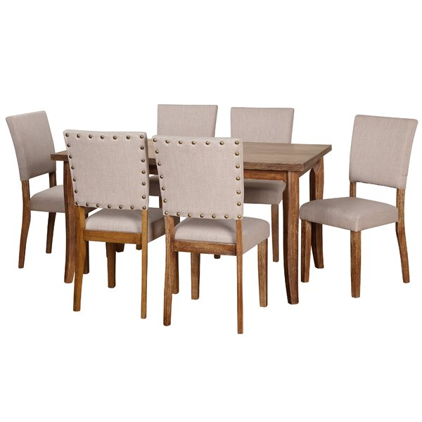Lassiter 7 Piece Solid Wood Dining Set by Gracie Oaks