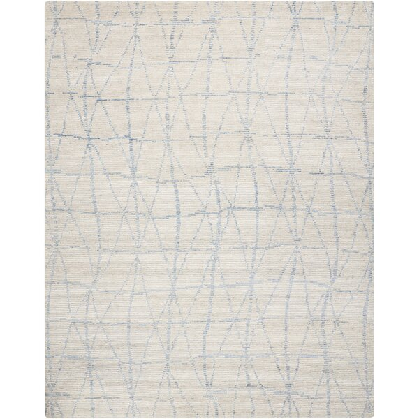 Aroon Hand-Knotted Sky Area Rug by 17 Stories