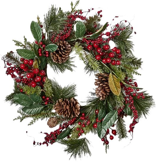 Waterproof Mixd Berry 22 Wreath by Three Posts
