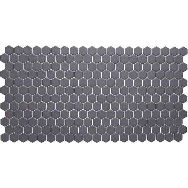 Dalton 12 x 24 Porcelain Mosaic Tile in Black by Itona Tile