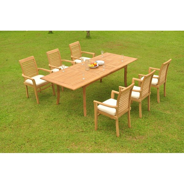 Garnett 7 Piece Teak Dining Set by Rosecliff Heights