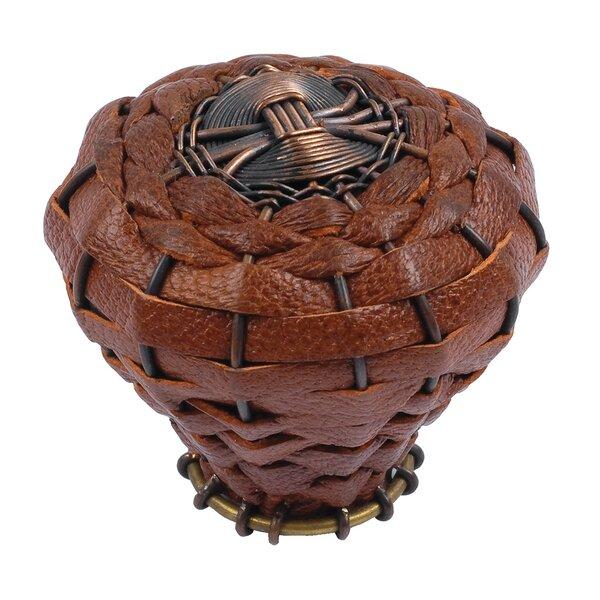 Hamptons Leather Round Knob by Atlas Homewares