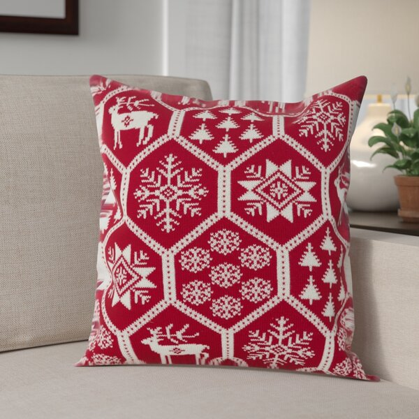 Holiday Fair Isle Throw Pillow by The Holiday Aisle