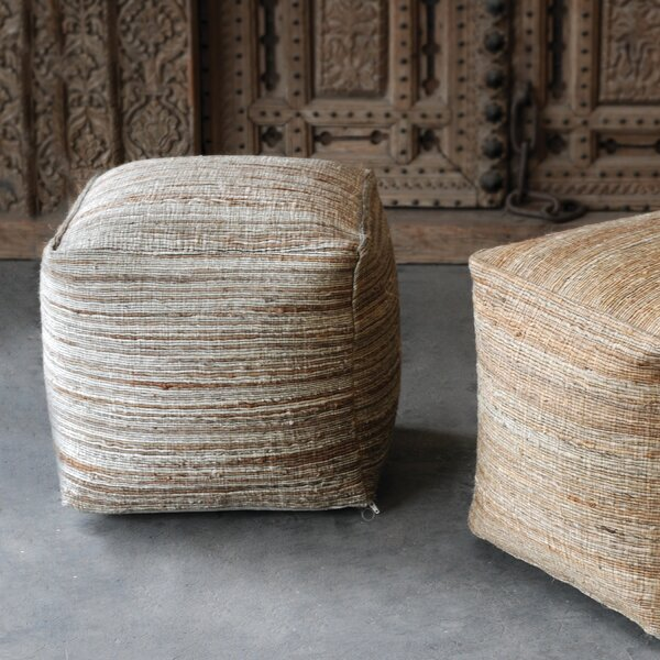 Shafter Pouf by Rosecliff Heights