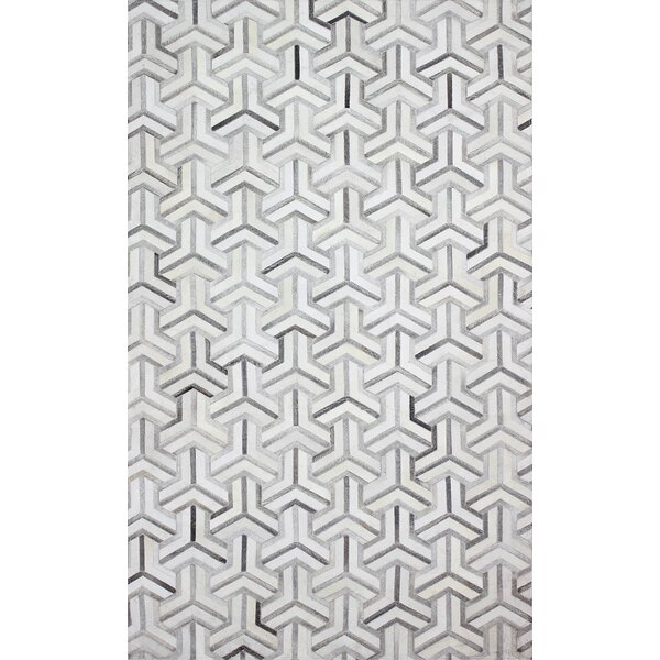 Davi Handmade Grey Area Rug by Wade Logan