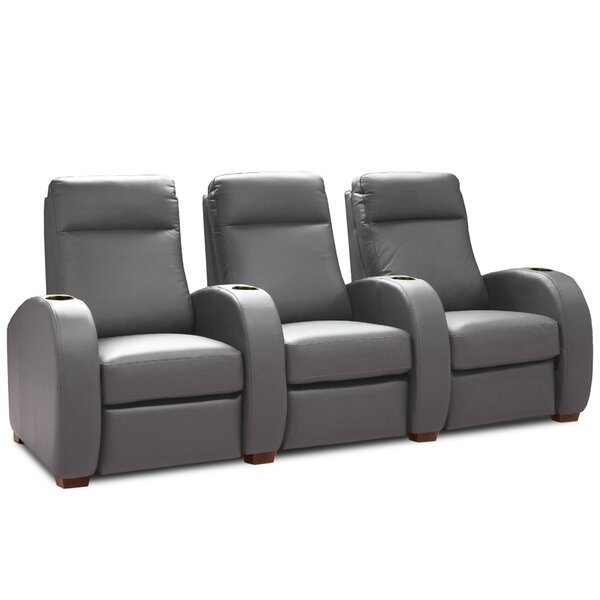 Patio Furniture Leather Home Theater Sofa (Row Of 3)