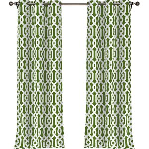 Morton Geometric Blackout Grommet Curtain Panels (Set of 2)