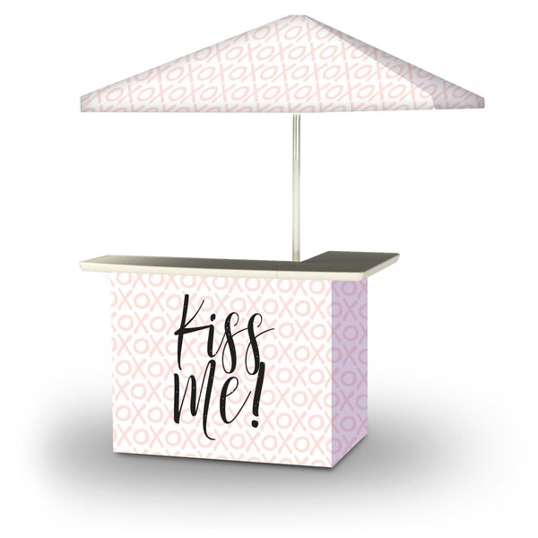 Akira Valentines Kiss Me 2-Piece Home Bar Set by East Urban Home