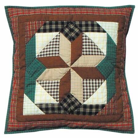 Giftwrap Cotton Throw Pillow by Patch Magic