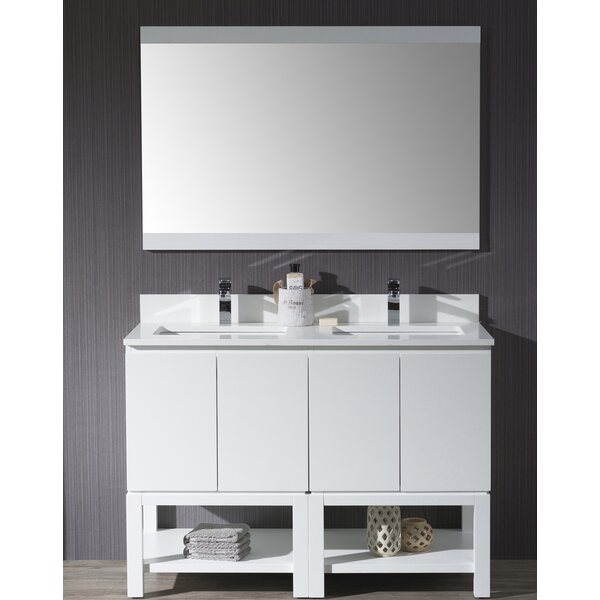 Maly 49 Double Bathroom Vanity Set with Mirror by Orren Ellis