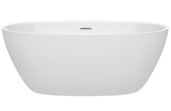 Juno 59 x 32 Freestanding Soaking Bathtub by Wyndh