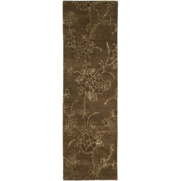 Sanders Brown Area Rug by Fleur De Lis Living