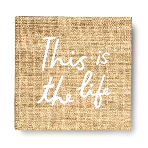 Photo Album (Large), This is the Life (Grasscloth) by kate spade new york