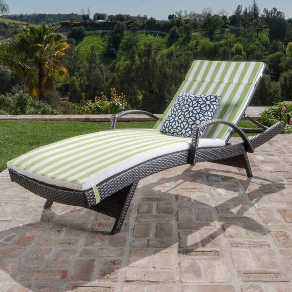 Rebello Outdoor Wicker Armed Lounge with Cushion