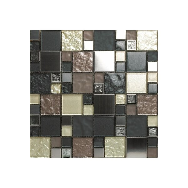 Noce Damasco 12 x 12 Glass Mosaic Tile by Kellani